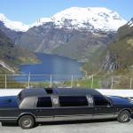 Limousine på flydalsjuvet Geiranger