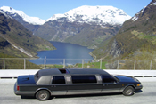 Limousine in Geiranger